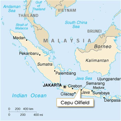 Cepu Indonesia Map