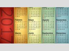 Calendario vertical 2017 Calendarios para Photoshop gratis
