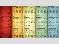 Calendario vertical 2017 Calendarios para Photoshop gratis