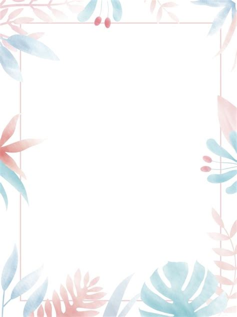 pure hand painted literary minimalist border background