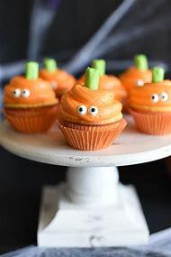 halloween cute face cupcakes