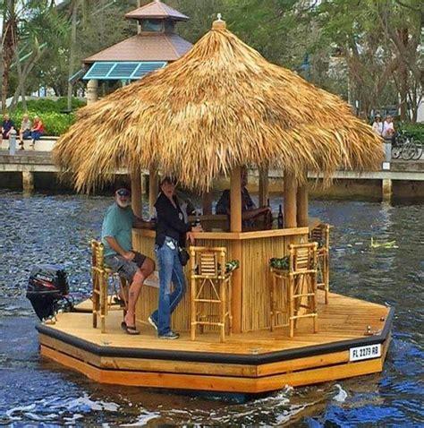 Tiki Bar Boat by Cruisin Tiki Boat The Gifts Tiki Bars Boating