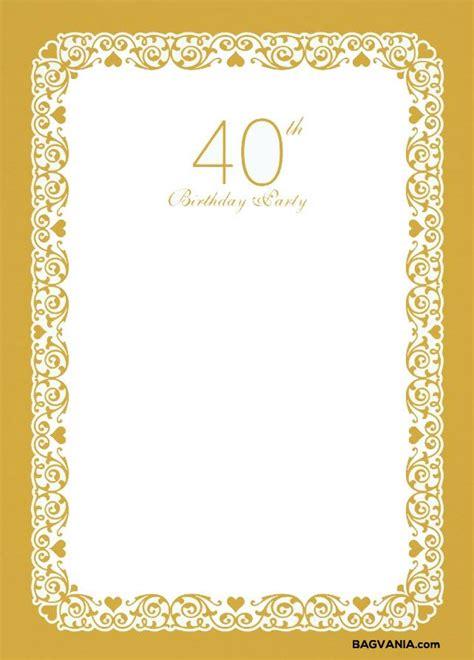 Cool Free Printable 40th Birthday Invitations 80th