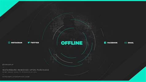 Twitch Offline Banner Template Size by Twitch Profile Banner Templates Premade Offline Image