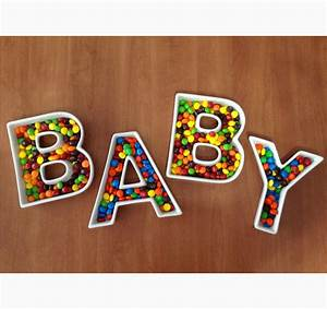 baby ceramic letters baby candy dishes With baby letter