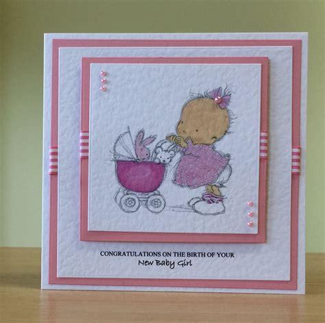 baby girl card handmade lotv digi stamp