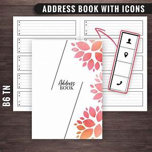 30 address book templates free word excel pdf designs for Address book template mac
