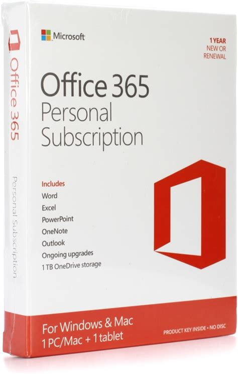 Office 365 Home Subscription by Microsoft Office 365 Personal 1 Year Subscription