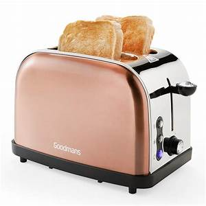 Goodmans 2 Slice Diamond Copper Toaster Kitchen BM
