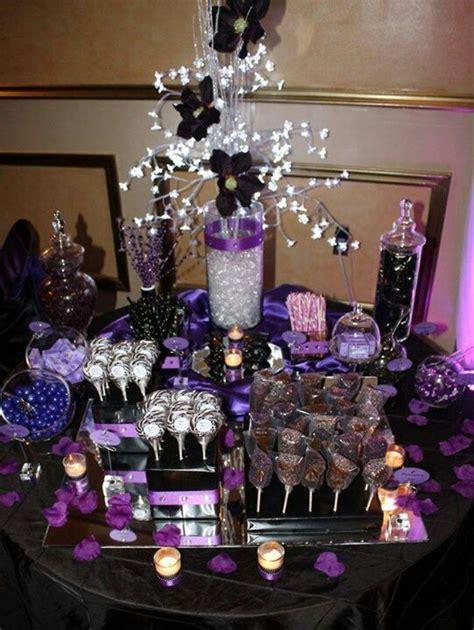 pretty purple candy station wedding candy table wedding