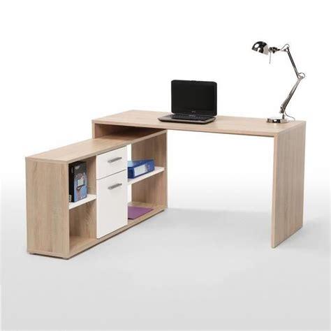 cdiscount bureaux finlandek bureau d 39 angle työ 140cm chêne blanc achat