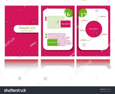 Yellow Brochure Design Vector Millions Vectors Vector Pink Brochure Design 82355287