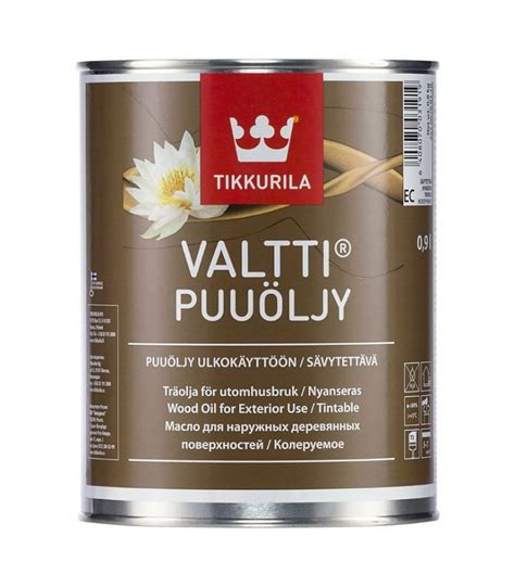 Tikkurila Puuöljy Wood Oil is a very durable and easy to use penetrating oil for exterior wooden ...