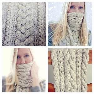 Knitting Pattern Braided Infinity Scarf Cowl Cable Knit