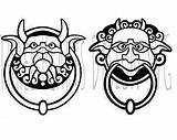 Labyrinth Movie Door Knockers Clipart Silhouette Craft Coloring Vinyl Drawing Clipartmag Crafts sketch template