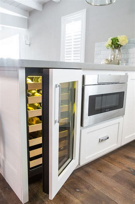 great idea build  wine cooler    kitchen