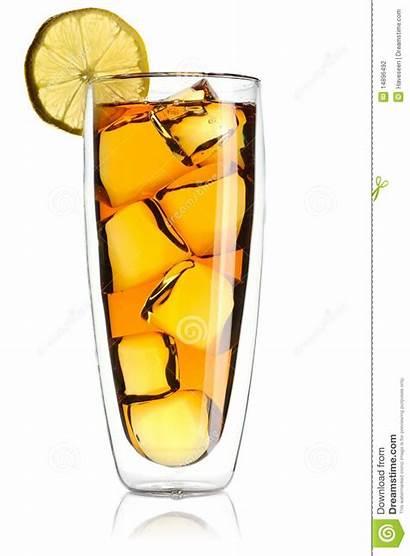 Tea Iced Lemon Fruit Dreamstime Isolated