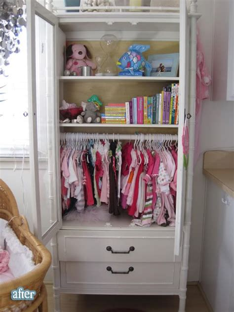 closet for baby clothes a hutch turned into a baby closet plus a nursery in a tiny