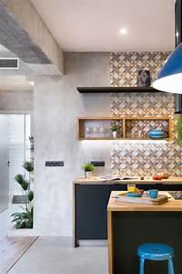 Faux Carreaux De Ciment : carreau ciment credence cuisine simple credence cuisine ~ Dailycaller-alerts.com Idées de Décoration