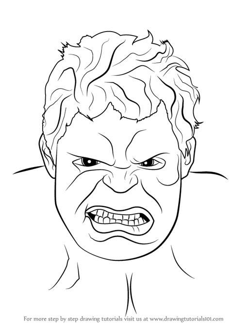 step  step   draw  hulk face