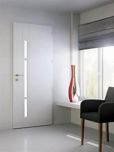 Porte D Entrée Blanche : une porte d 39 entr e en aluminium blanche et lumineuse door ~ Melissatoandfro.com Idées de Décoration