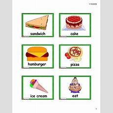 English For Kids,esl Kids Food Vocabulary Flashcards