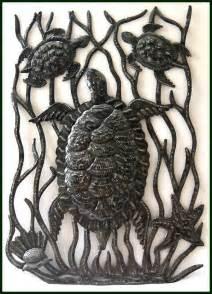 metal design metal fish wall sealife haitian metal designs