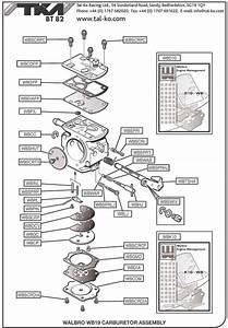 Walbro Carb Parts - Tkm Bt82 Parts