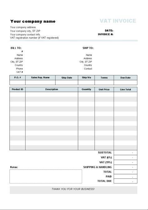 freeware  excel invoice template
