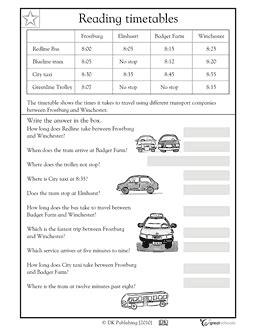 reading timetables worksheets activities greatschools math fun homeschool math ks2