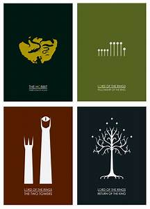 Minimalist Posters for THE HOBBIT and THE LORD OF THE ...