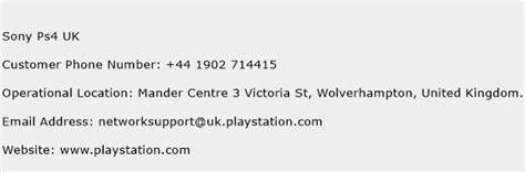 sony customer support phone number sony ps4 uk customer service phone number toll free