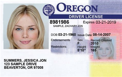 Oregon New Driver's License Application And Renewal 2019