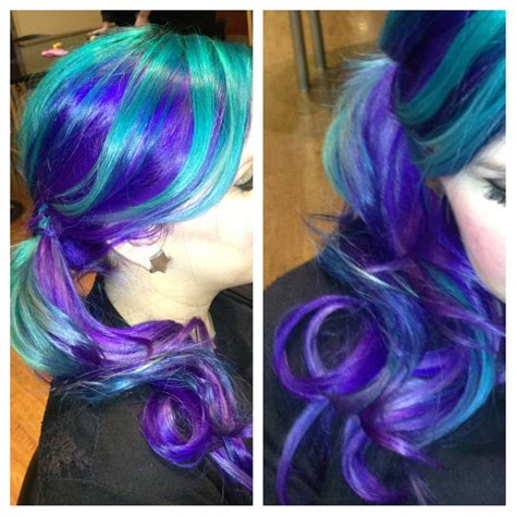 Purple To Green Ombre Hairstyle Hair Colors Ideas
