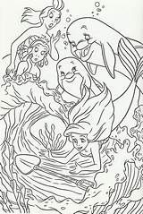 Coloring Mermaid Dolphins Coral Cove Mermaids Shovel1 Colouring Disney Princess Birthday Printable Happy Adult 50th sketch template