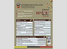 La UdeG publica listas de admisión del calendario 2015A