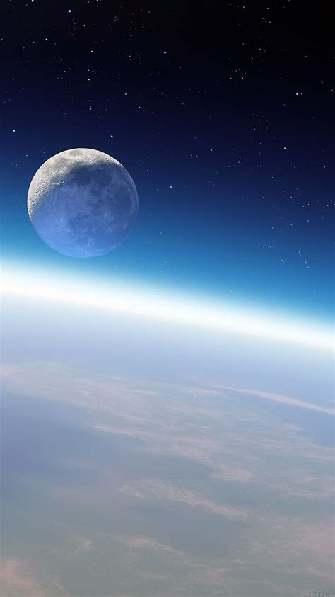mb wallpaper earth moon space papersco