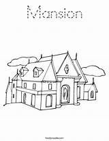Coloring Mansion Worksheet Print Outline Built Noodle Tracing Twistynoodle California Usa Block Twisty sketch template