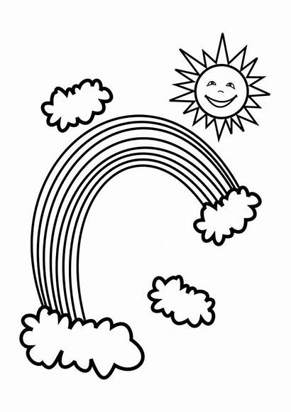 Rainbow Coloring Pages Printable Clip Pot Gold