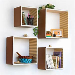 creative ideaawesome modern square wall shelves for With house design new model shelves