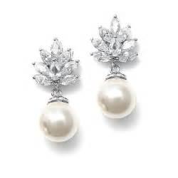 bridesmaid earrings pearl drop bridal earrings