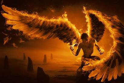 Fire Wings Guy Fantasy Wallpapers Angel Backgrounds