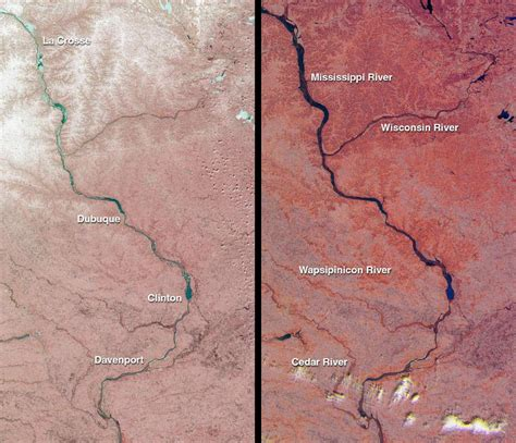 Space Images | Spring Flooding on the Mississippi