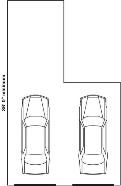Standard Garage Sizes for 1, 2, 3, or 4 Cars (with Chart)