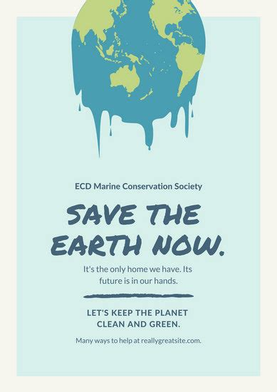 melting earth global warming poster templates  canva