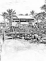 Coloring Beach Boardwalk Tropical Adult Island Bahamas Scene Digital Designlooter Abacos sketch template