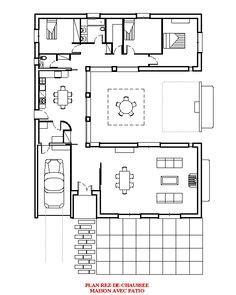 maison contemporaine plain pied avec patio plan de