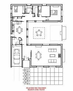 1000 images about architecture floor plans on pinterest With plan maison avec patio