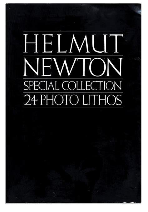 lot detail rare helmut newton special collection