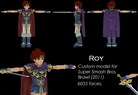 Super Smash Bros Melee Wallpaper Roy Custom 3d Model Ssbb By Vert092 On Deviantart